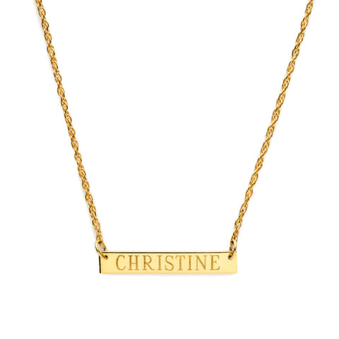 Lauren Nameplate Necklace