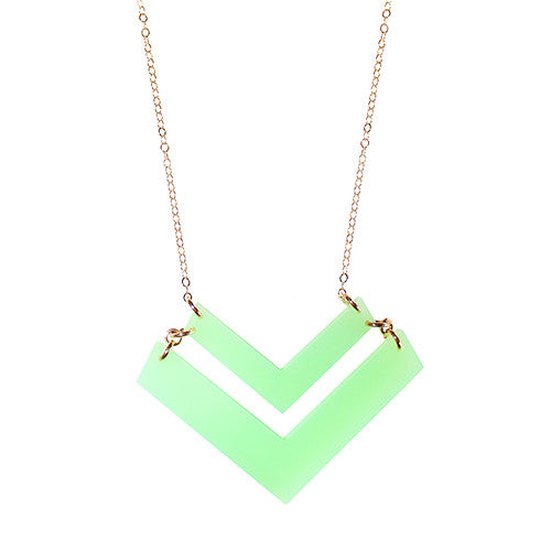 Moon and Lola - -Chevron Necklace