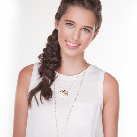I found this at #moonandlola - Cheshire Monogram Necklace