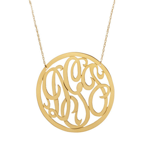Handcut Monogram Twisted Bangle