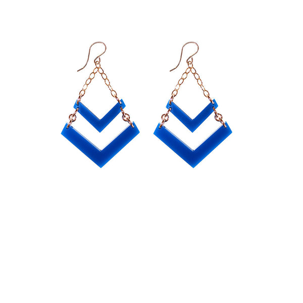 I found this at #moonandlola! - Chevron Earrings