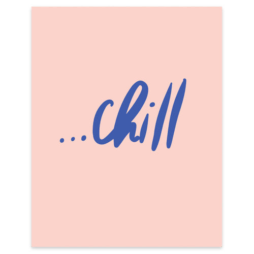 "Moon and Lola xx Thimblepress ""Chill"" framable print"