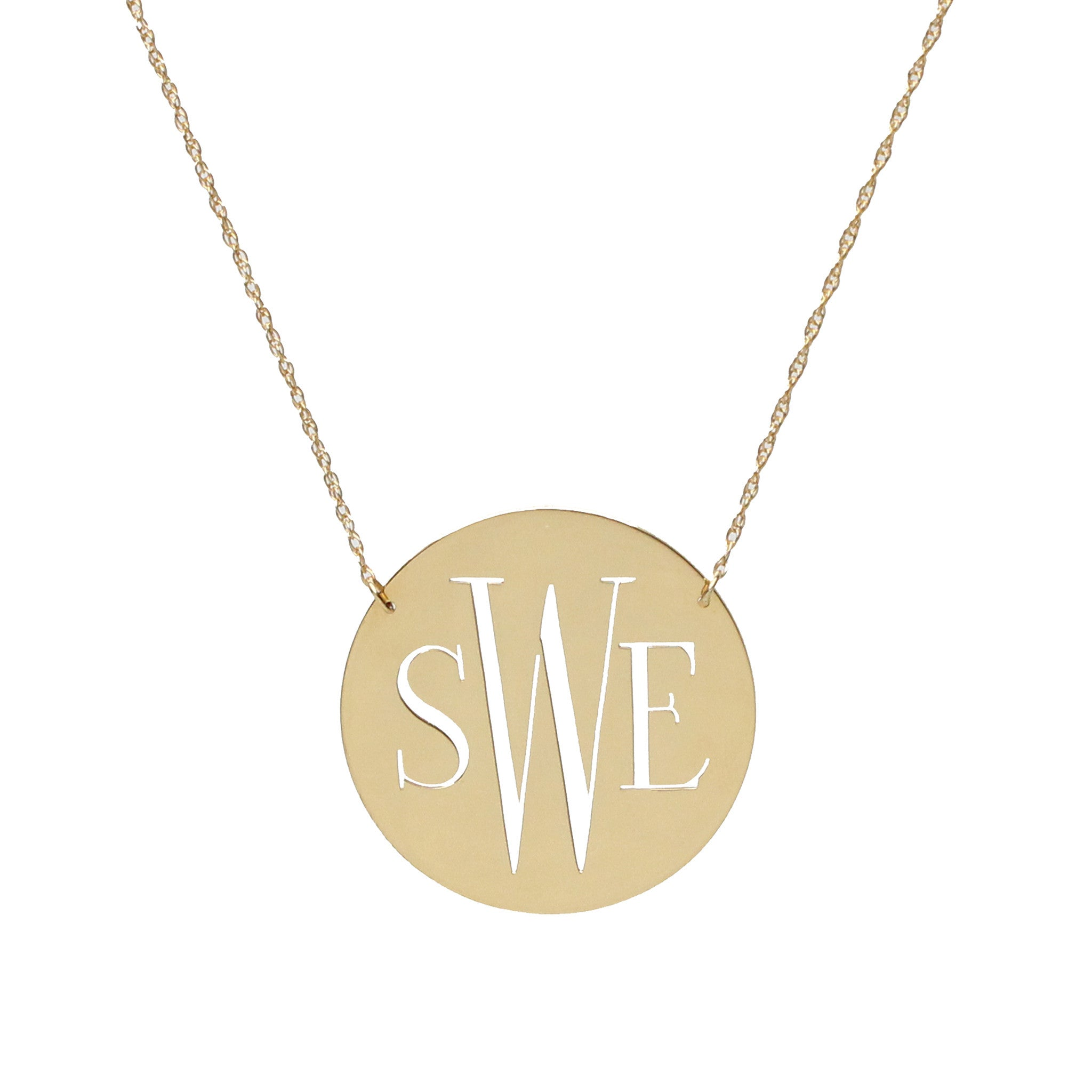 gold original by necklace product double pearson side solid lindsay mini disc sided initial lindsaypearson