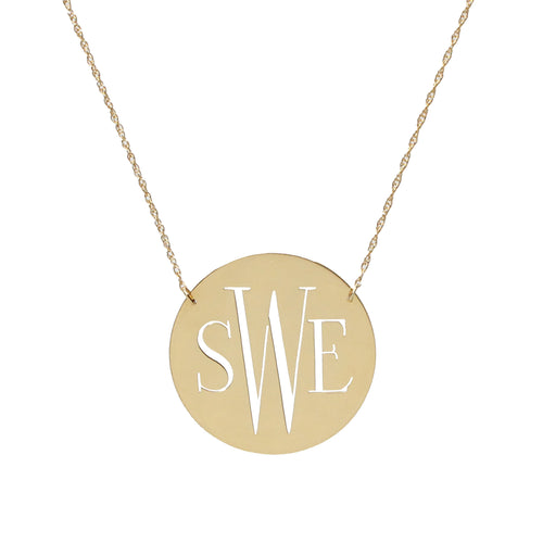 I found this at #moonandlola - Metal Disc Necklace