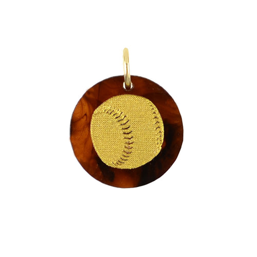 Acrylic Baseball / Softball Charm - Moon and Lola