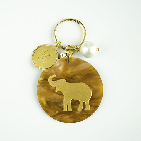 I found this at #moonandlola! - Eden Key Chain Tiger's Eye Elephant