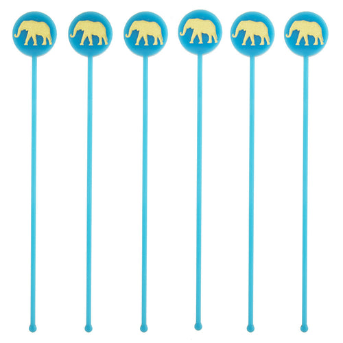 I found this at #moonandlola! - Elephant Drink Stirrers