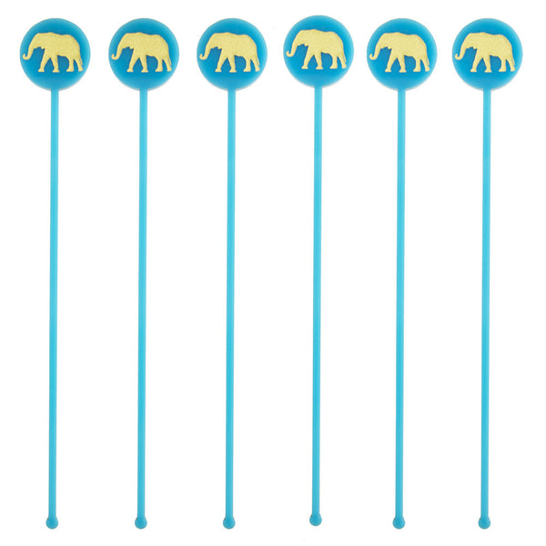 Moon and Lola - Elephant Drink Stirrers