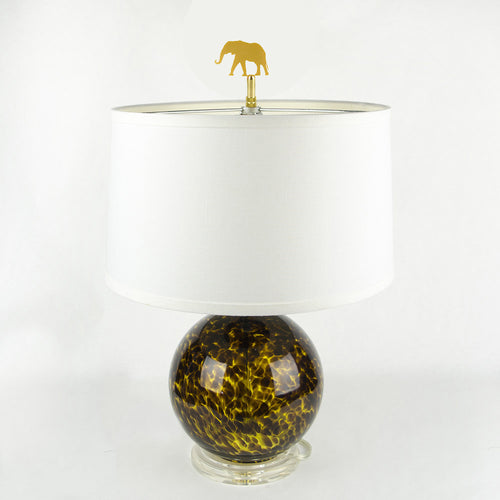 I found this at #moonandlola! - Elephant Finial on lamp
