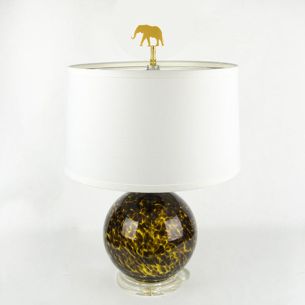 Moon and Lola - Elephant Finial on lamp