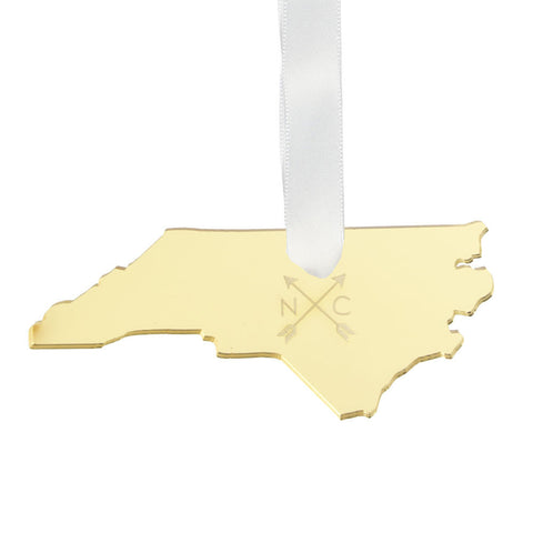 Metal Mini State Necklace