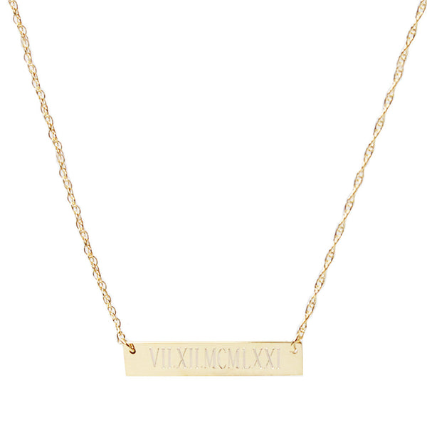 I found this at #moonandlola - Metal Engraved Bar Necklace