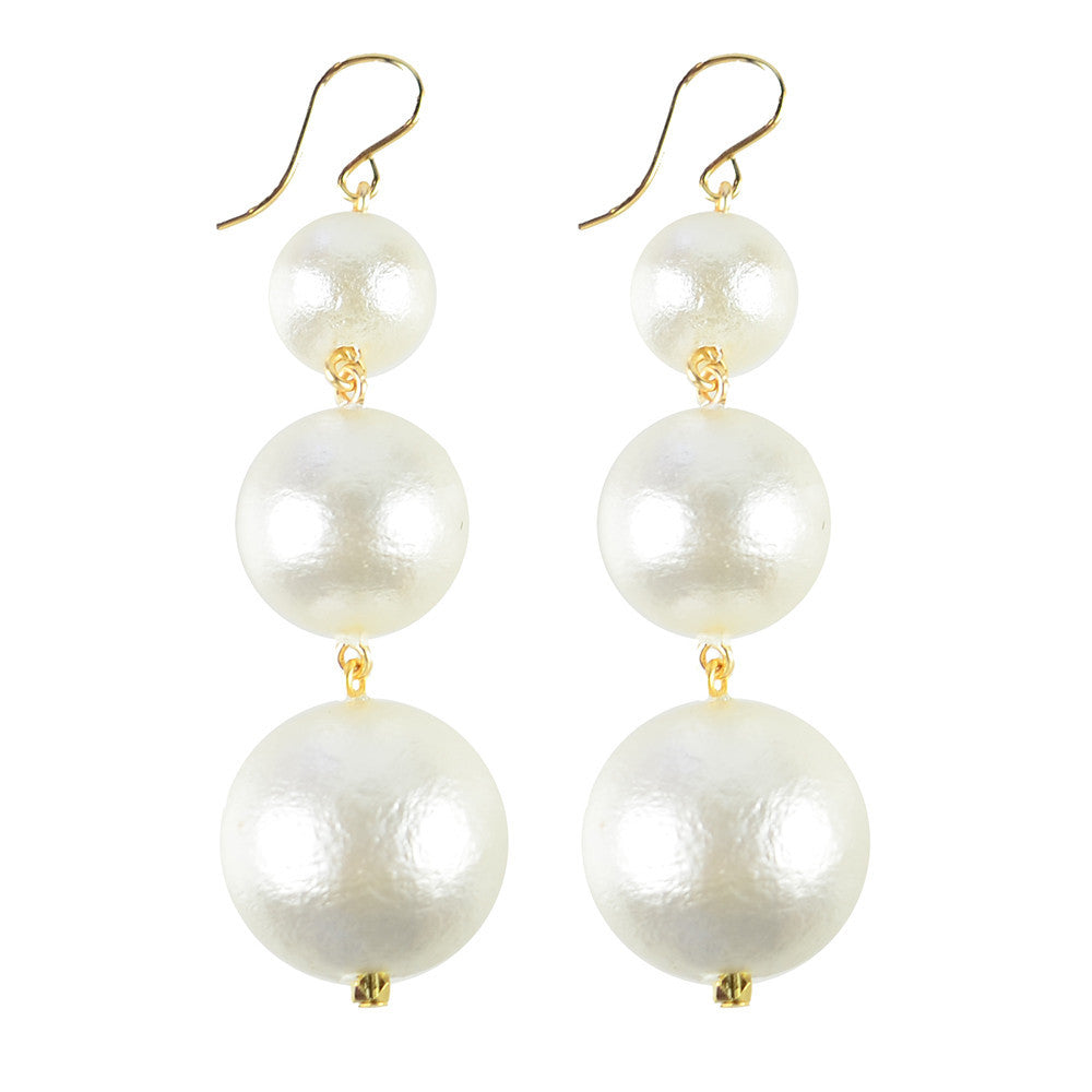 I found this at #moonandlola! - Europa Cotton Pearl Earrings