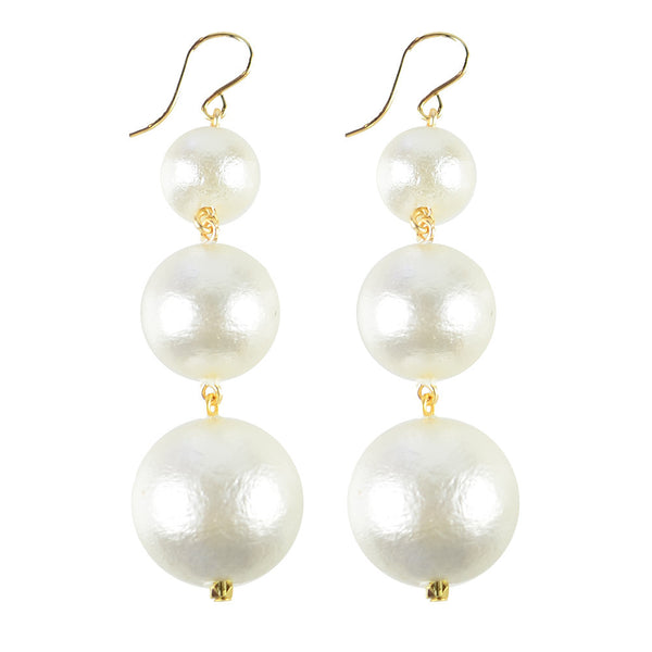 Europa Cotton Pearl Graduated Gold Filled
