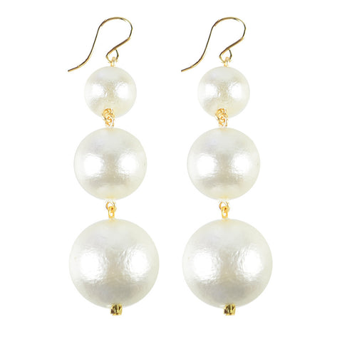 Vienna Cotton Pearl Earrings