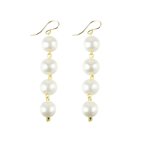 I found this at #moonandlola! - Europa Mini Cotton Pearl Earrings