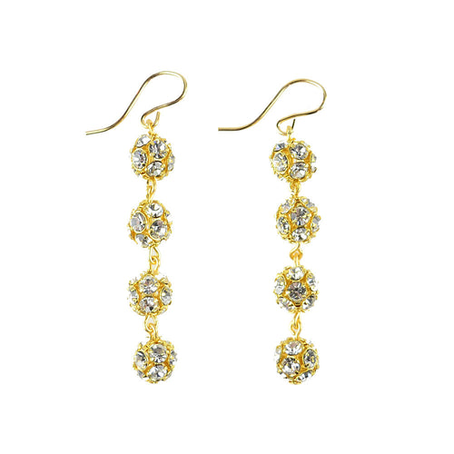I found this at #moonandlola! - Europa Mini Rhinestone Ball Earrings