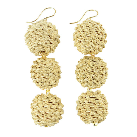 I found this at #moonandlola! - Europa Knotted Raffia Earrings