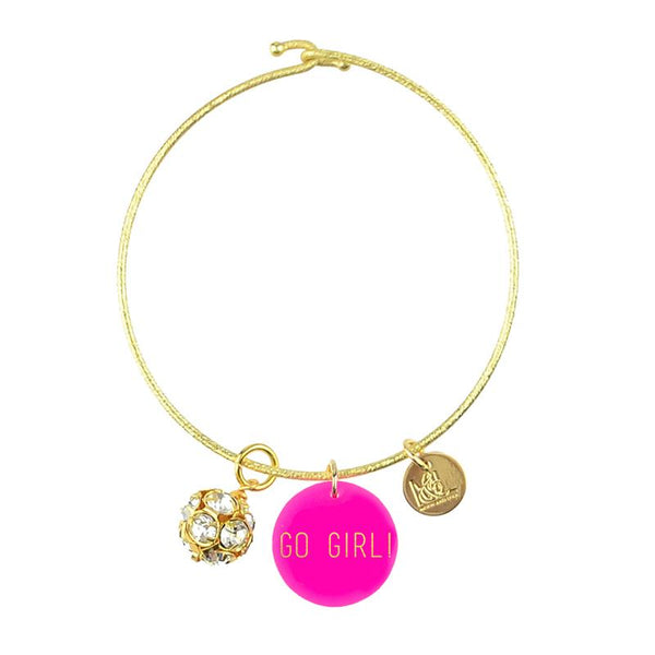 Moon and Lola Go Girl! Charm Bracelet