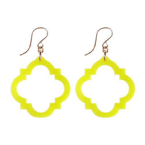 Moon and Lola - Granada Earrings Lime