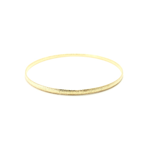 Moon and Lola - Genoa Bangle brushed gold thin bracelet