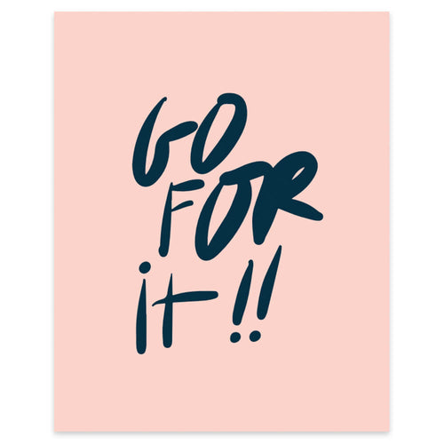 "Moon and Lola xx Thimblepress ""Go For It"" framable print"