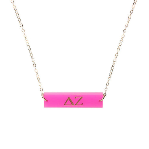 I found this at #moonandlola! - Greek Letter Bar Necklace