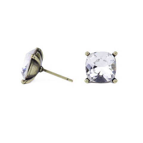 Moon and Lola - Hadley Studs Silver Shade