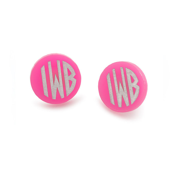 I found this at #moonandlola! - Hartford Block Monogram Post Earrings