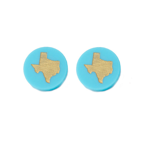 I found this at #moonandlola! - Acrylic Round State Studs Robin's Egg