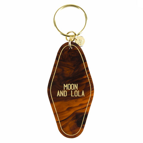 Patterned Nameplate Keychain