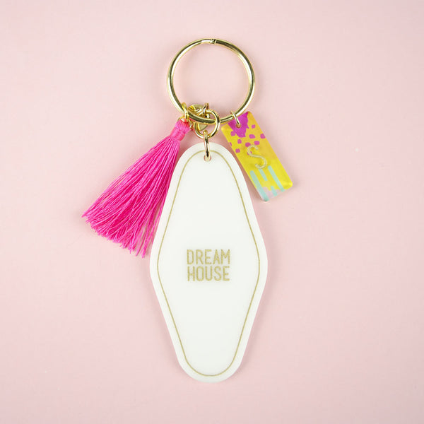 Moon and Lola - Hotel Keychain with Charms