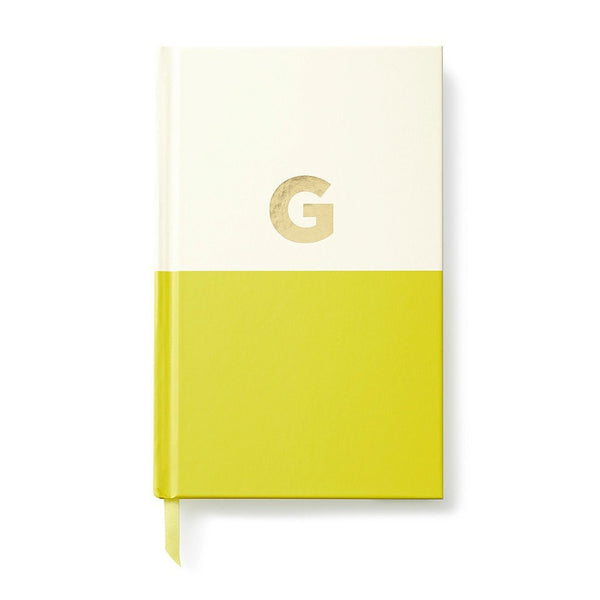 Moon and Lola - Kate Spade Dipped Initial Notebook G