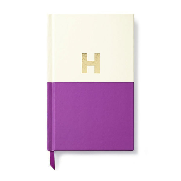 Moon and Lola - Kate Spade Dipped Initial Notebook H