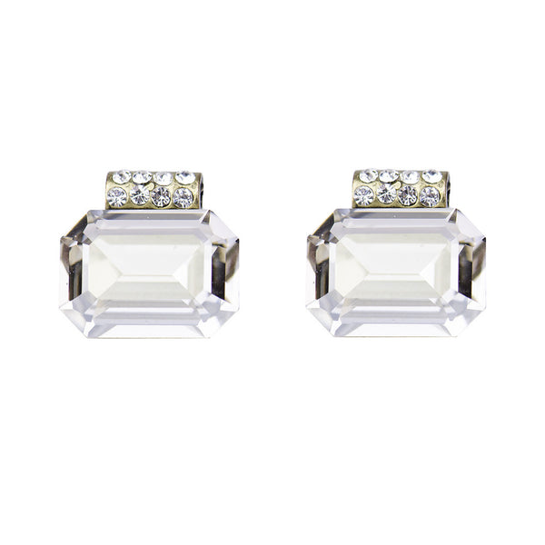 I found this at #moonandlola! - Kingsley Emerald Cut Swarovski Studs