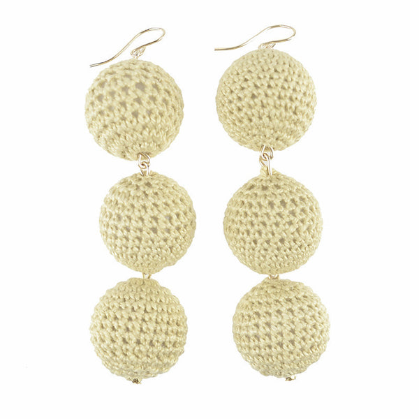 I found this at #moonandlola! - Europa Champagne Knit Earrings