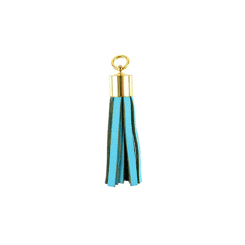 Small Leather Tassel Charm - I found this at #moonandlola