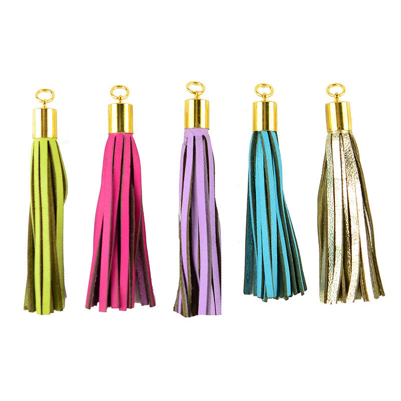 Leather Tassel Charms - I found this at #moonandlola