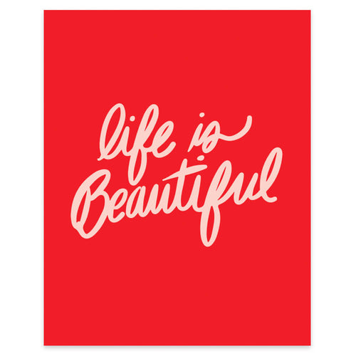 "Moon and Lola xx Thimblepress ""Life Is Beautiful"" framable print"