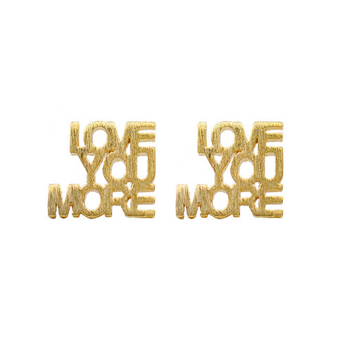 I found this at #moonandlola! - Montpellier Love You More Cutout Studs