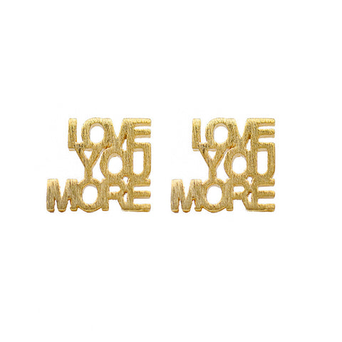 Moon and Lola - Montpellier Love You More Cutout Studs