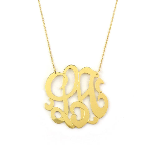 Moon and Lola - Sample Cheshire Monogram Necklace