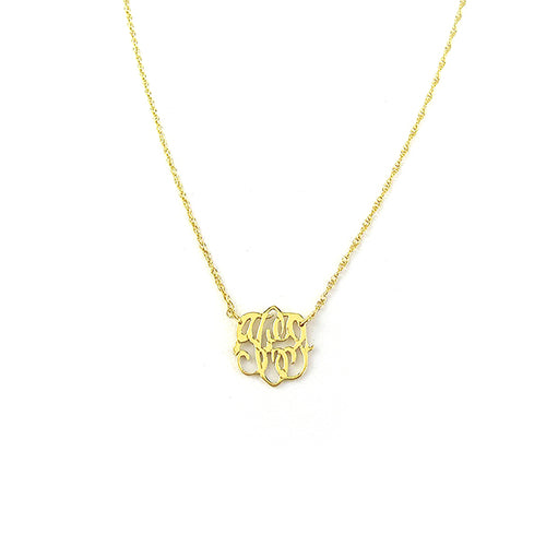 "Sample ""TCP"" Cheshire Handcut Monogram Necklace"