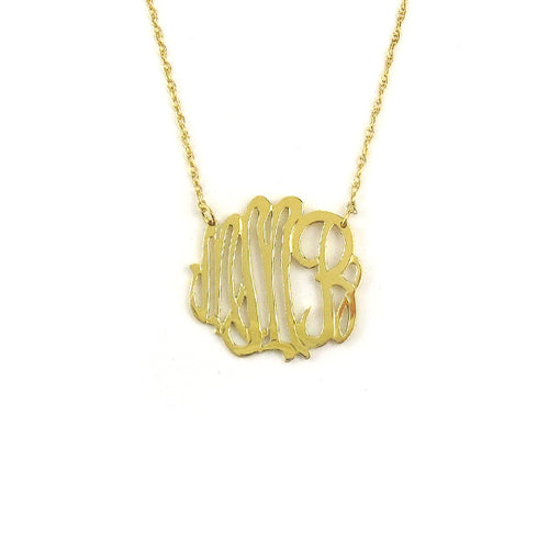"Sample ""MMB"" Cheshire Monogram Necklace"