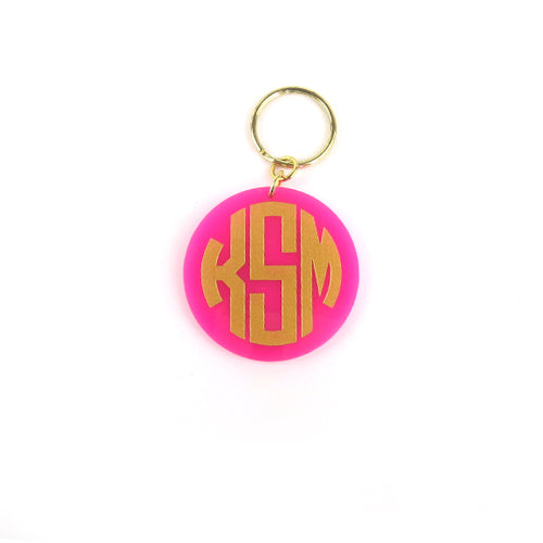 Moon and Lola - Hartford Keychain in Hot Pink