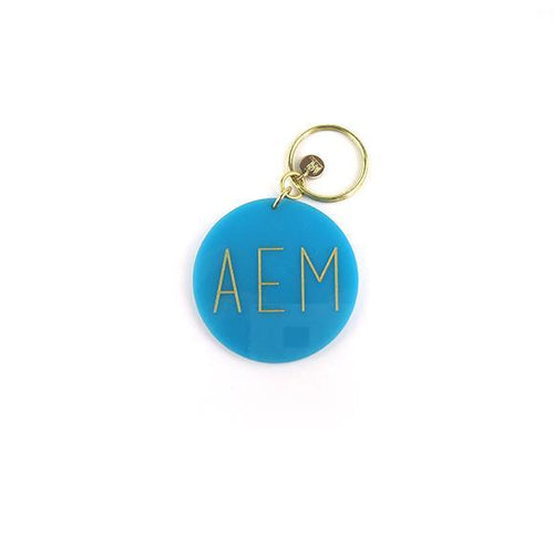 Moon and Lola - Turquoise Modern Block Keychain