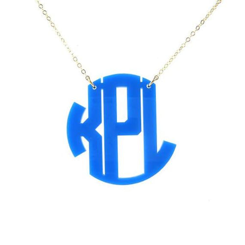 "Sample ""KPL"" Nice Monogram Necklace"