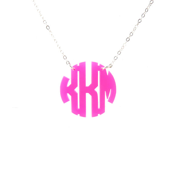 "Sample ""KKM"" Nice Monogram Necklace"