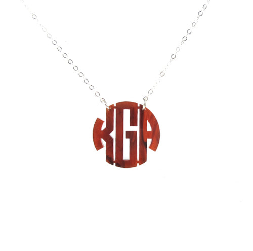 "Sample ""KGA"" Nice Monogram Necklace"