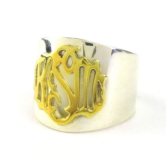 Moon and Lola - Palais Cheshire Hand-cut Monogram Ring